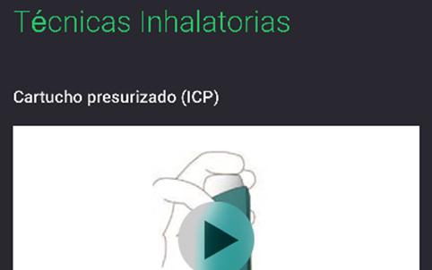 Vídeos para usar los diferentes inhaladores