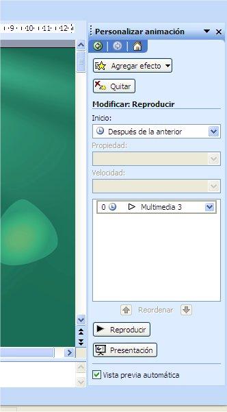 """7581a957a5f3c 6) En la ventana donde se muestra nuestro archivo (Multimedia 3) pulsamos  el menú desplegable y seleccionamos la opción """"Opciones de efecto"""" y en  esta ..."""