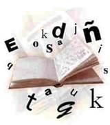 Foto de un libro y letras