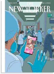 """Foto: Chris Ware. Portada de """"The New Yorker"""" de abril de 2020."""