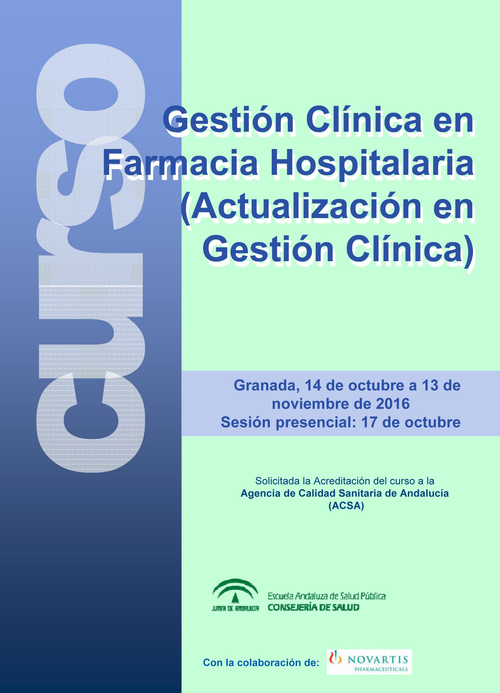 curso \u0027gestión clínica en farmacia hospitalaria (actualización en
